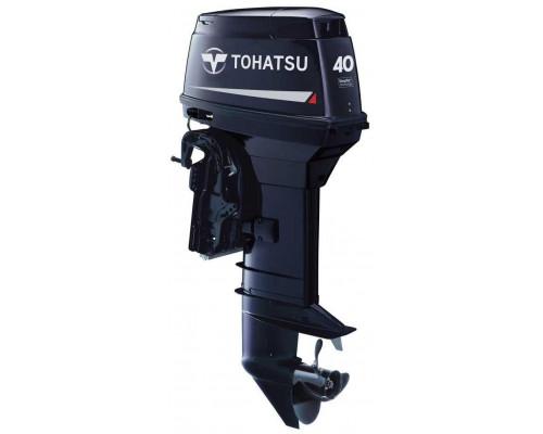Tohatsu M40 EPTOS с дистанционным управлением и гидроподъёмником; впрыском масла - 2х-тактный лодочный мотор