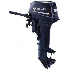 Tohatsu M18 EPL с дистанционным управлением; длинной ногой - 2х-тактный лодочный мотор