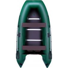 Лодка OMOLON SLDK A-320 DP килевая, с фанерным пайолом и стрингерами - моторная надувная лодка ПВХ