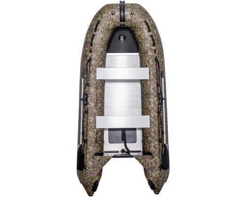 Лодка SMarine Standart-330 Камуфляж килевая, с алюминиевым пайолом и стрингерами- моторная надувная лодка ПВХ
