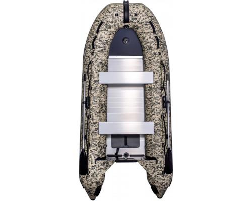 Лодка SMarine Standart-360 Камуфляж килевая, с алюминиевым пайолом и стрингерами- моторная надувная лодка ПВХ