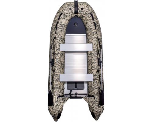 Лодка SMarine Standart-380 Камуфляж килевая, с алюминиевым пайолом и стрингерами- моторная надувная лодка ПВХ