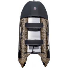 Лодка SMarine Max-360 Камуфляж килевая, с алюминиевым пайолом и стрингерами- моторная надувная лодка ПВХ