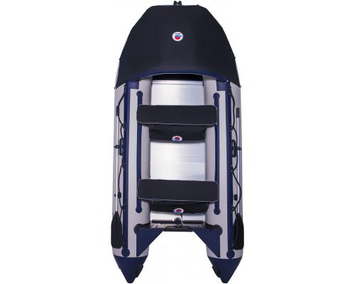 Лодка SMarine Max-380 килевая, с алюминиевым пайолом и стрингерами - моторная надувная лодка ПВХ