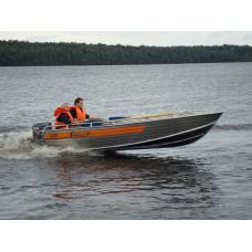 Wellboat-46 румпельное управление - алюминиевая моторная лодка
