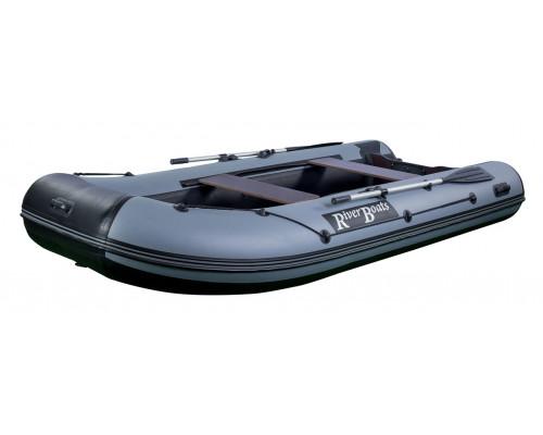 Riverboats RB-350 килевая, с фанерным пайолом со стрингерами - моторная надувная лодка ПВХ