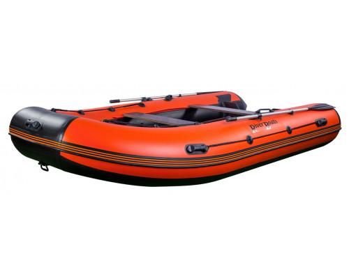Riverboats RB-390 килевая, с фанерным пайолом со стрингерами - моторная надувная лодка ПВХ