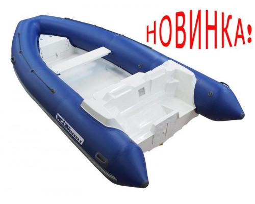 WinBoat 440R LUXE с плоской палубой, двумя рундуками -  классический РИБ - жёстко-надувная моторная лодка