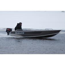Windboat 42M румпельная - алюминиевая моторная лодка