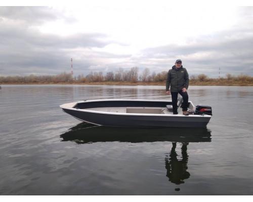 Windboat 45 EVO Fish румпельная - алюминиевая моторная лодка