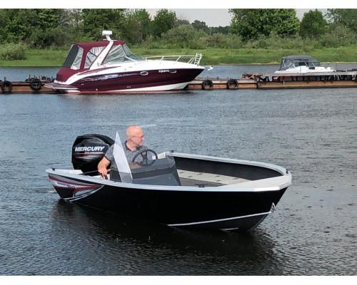 Windboat 45С EVO Fish одноконсольная - алюминиевая моторная лодка