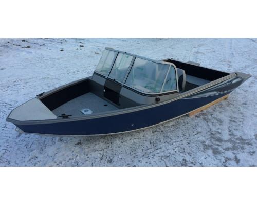Windboat 45DCX двухконсольная - алюминиевая моторная лодка