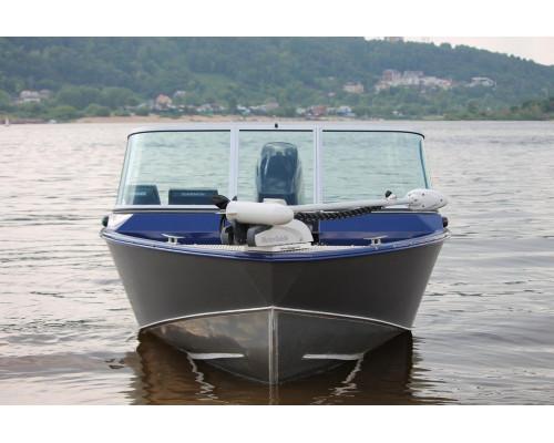 Windboat 4.6DС EVO Fish двухконсольная - алюминиевая моторная лодка