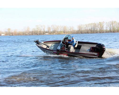 Windboat 5.0 EVO Fish двухконсольная - алюминиевая моторная лодка