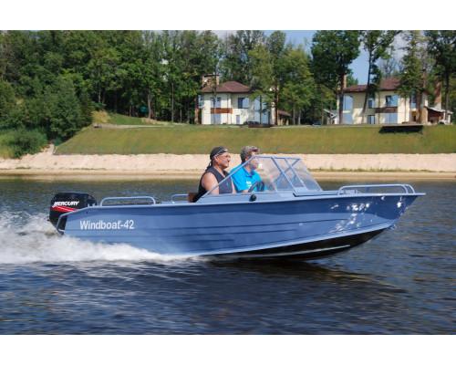 Windboat 42MPro капотная - алюминиевая моторная лодка