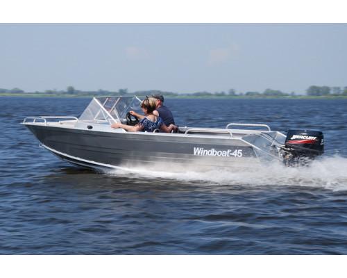 Windboat 45MPro капотная - алюминиевая моторная лодка
