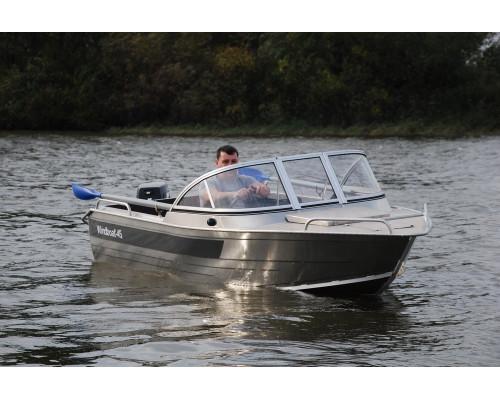 Windboat 45ME капотная - алюминиевая моторная лодка