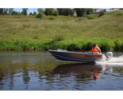 Wellboat-42 NexT румпельное управление - алюминиевая моторная лодка