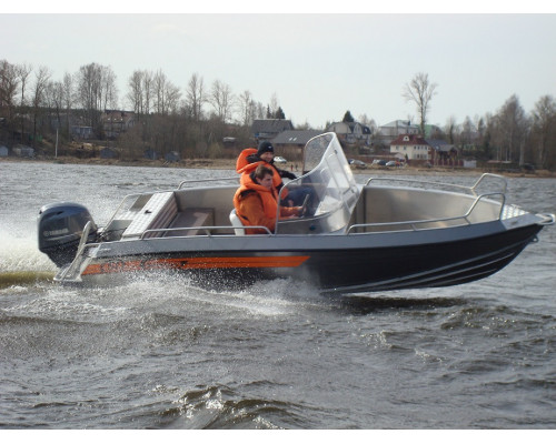 Wellboat-51 DC - алюминиевая моторная лодка