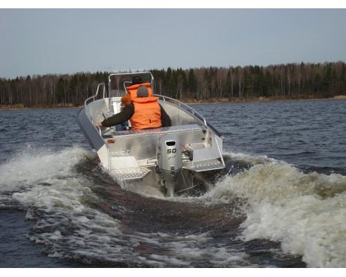 Wellboat-51 CC консоль - алюминиевая моторная лодка