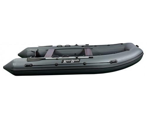 Riverboats RB-450 килевая, с фанерным пайолом со стрингерами - моторная надувная лодка ПВХ