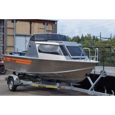 Wellboat-53 рубка - алюминиевая моторная лодка