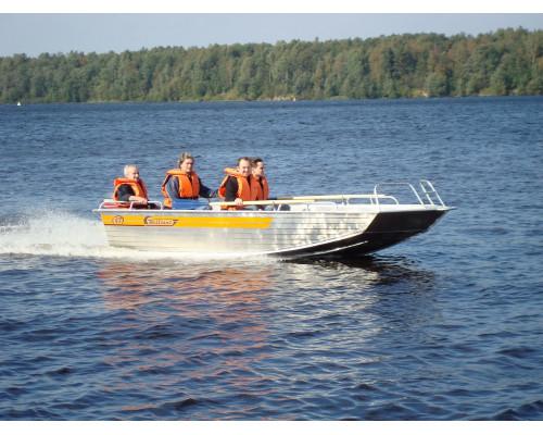 Wellboat-47 румпельное управление - алюминиевая моторная лодка