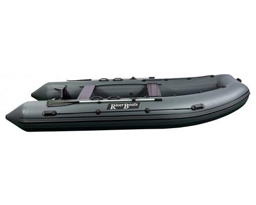 Riverboats RB-490 килевая, с фанерным пайолом со стрингерами - моторная надувная лодка ПВХ