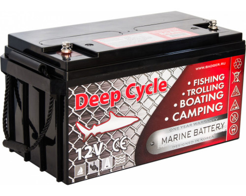 Тяговый аккумулятор для лодочного электромотора Marine Deep Cycle AGM 80Ah 12V