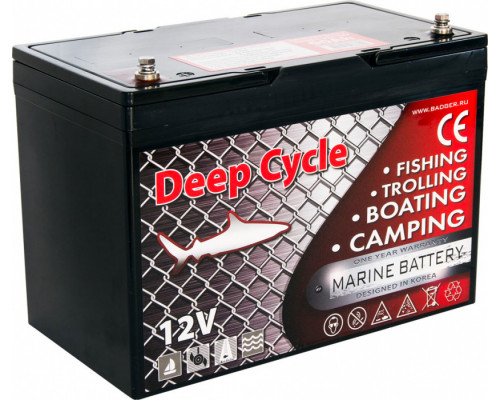 Тяговый аккумулятор для лодочного электромотора Marine Deep Cycle GEL 90Ah 12V