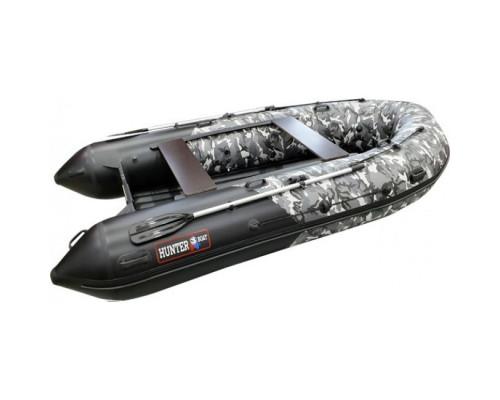Хантер 350 ПРО Камуфляж (НДНД) с умеренно-килеватым надувным дном низкого давления - моторная надувная лодка
