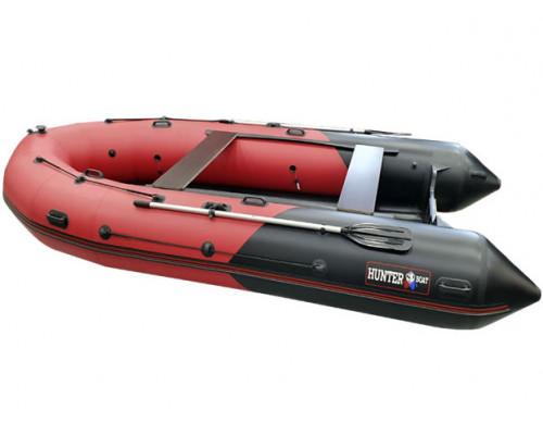 Хантер 420 ПРО (НДНД) с умеренно-килеватым надувным дном низкого давления - моторная надувная лодка