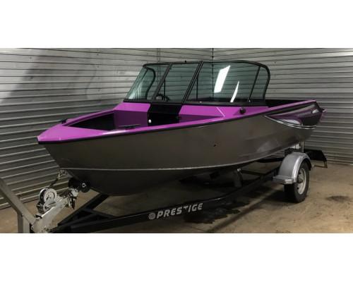 Windboat 4.6DСX  двухконсольная - алюминиевая моторная лодка