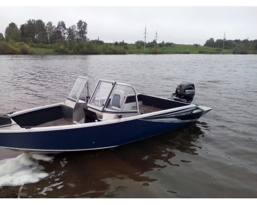 Windboat 45DCX L/S - 2020 двухконсольная - алюминиевая моторная лодка