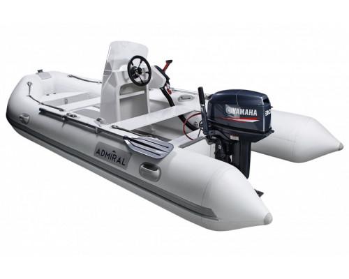 Адмирал RIB 410 с консолью - классический RIB - жестко-надувная моторная лодка ПВХ