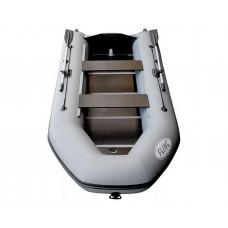 FLINC FT340L с фанерным полом-книжкой со стрингерами - моторная надувная лодка ПВХ
