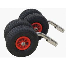 Транцевые колеса на лодку (140 - 150 кг.)