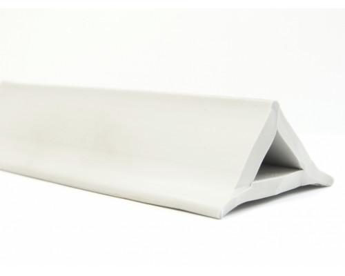 Профиль ПВХ треугольный, серый