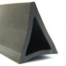 Профиль ПВХ треугольный, чёрный