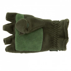 Перчатки с откидным верхом для рыбалки,зеленые