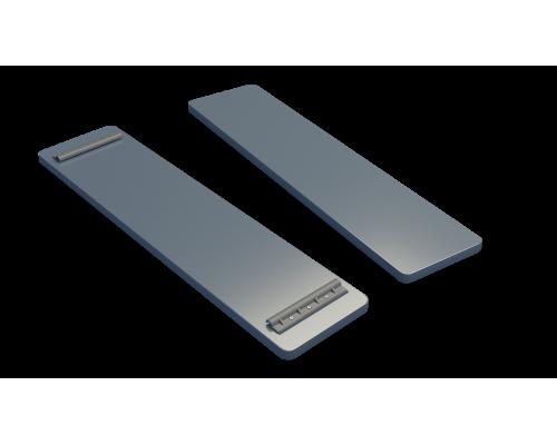 Банка на лодку ПВХ (1150/1070 мм) фанера (Серый)
