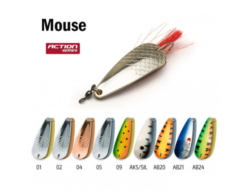 Блесна незацепляйка Akara Action Series Weedless Mouse 70/12