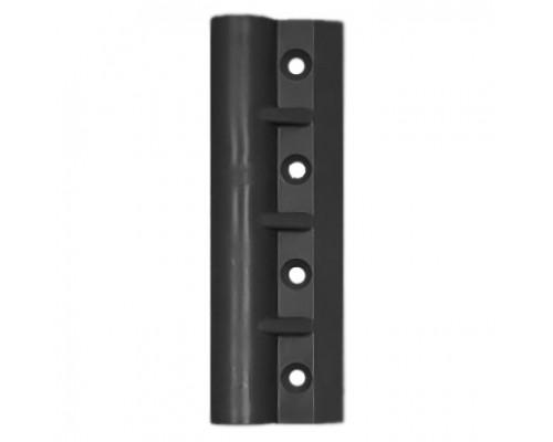 Уголок крепления сиденья пластиковый (передвижной) - 4 отв (Черный)