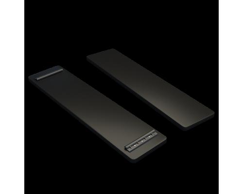 Банка на лодку ПВХ (915/835 мм) фанера (Черный)