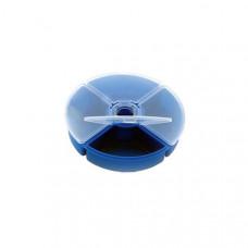Коробка четырехсекционная Nautilus Round Tackle Box d-12см H-2,8см*