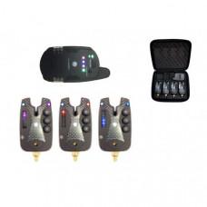 Набор электронных сигнализаторов поклевки с пейджером Hoxwell HL 120 (3+1)