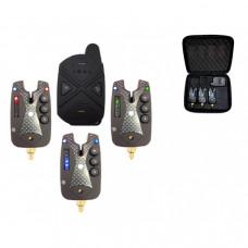 Набор электронных сигнализаторов поклевки с пейджером Hoxwell HL 121 (3+1)