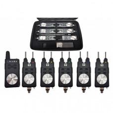 Набор электронных сигнализаторов поклевки с пейджером Hoxwell HL 135 (5+1)