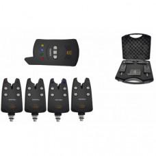 Набор электронных сигнализаторов поклевки с пейджером Hoxwell HL 24 (4+1)
