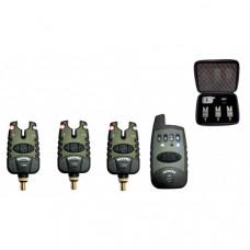 Набор электронных сигнализаторов поклевки с пейджером Hoxwell HL 52 (3+1)